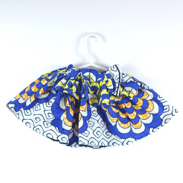 Circle Burst Skirt - Blue