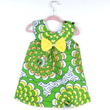 Circle Burst Dress - Green