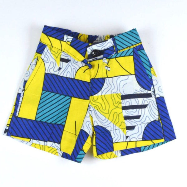 Chain Reaction Shorts - Yellow/Blue