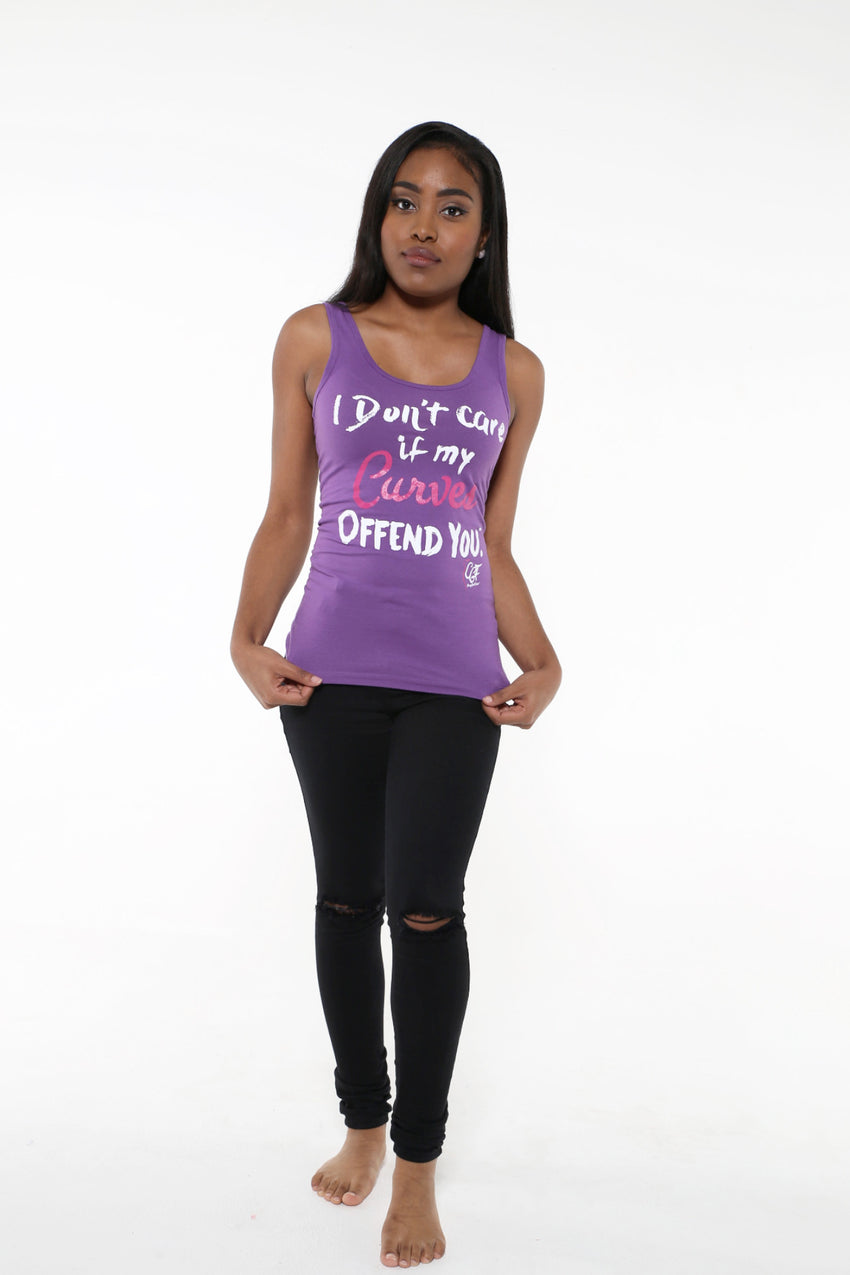 I DON'T CARE IF MY CURVES OFFEND YOU™ Tank Top