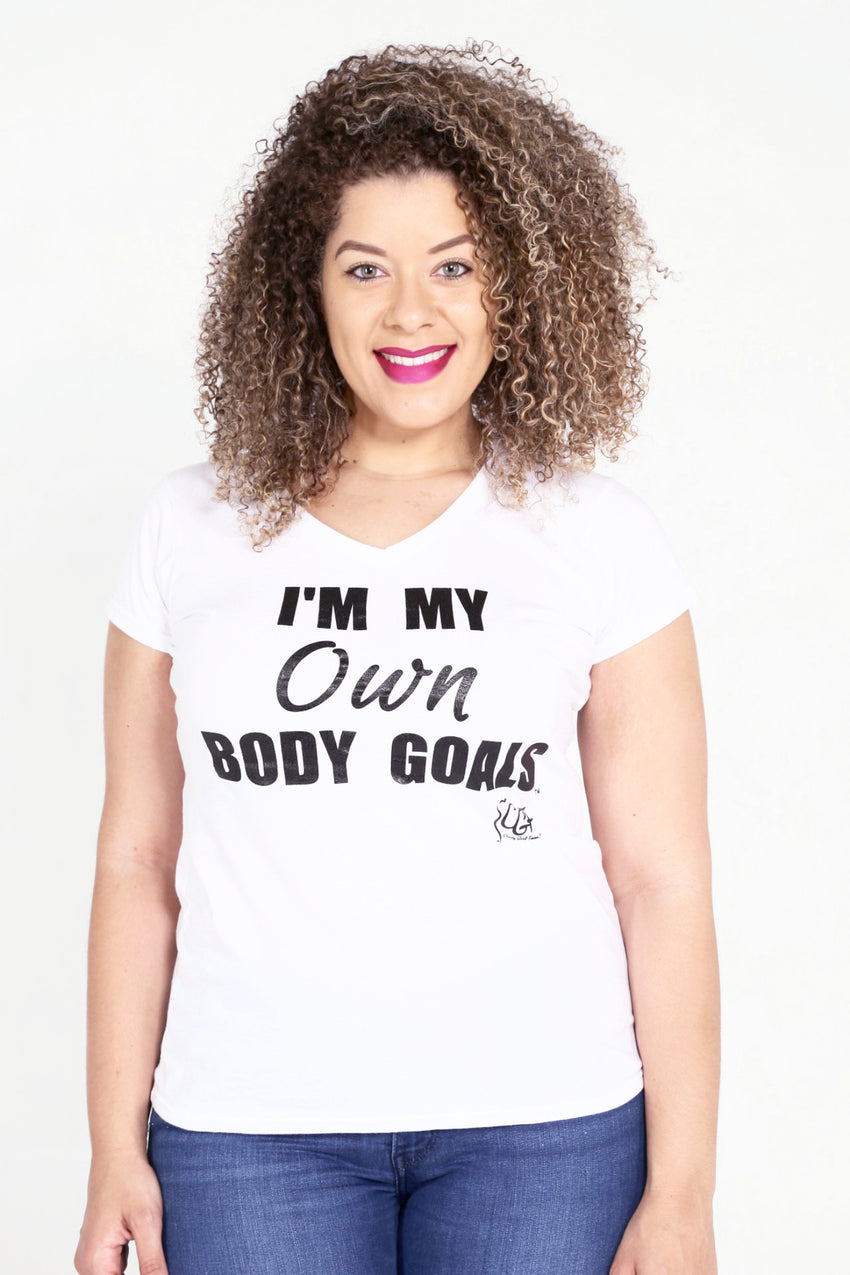 I'M MY OWN BODY GOALS® Ladies V-Neck
