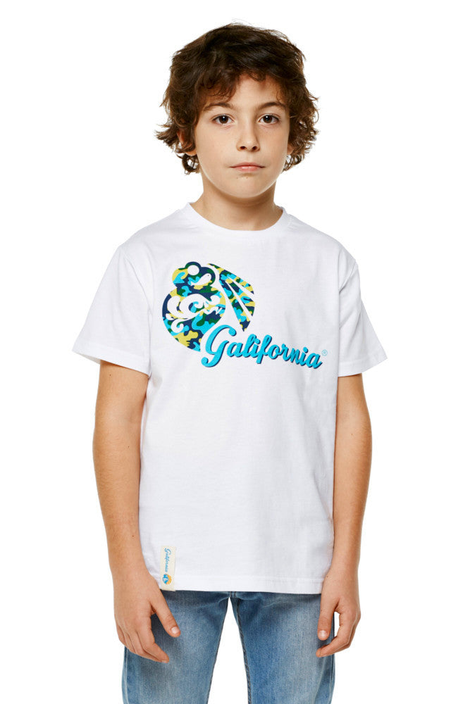 Camiseta galifornia logo camuflaje kids