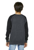 Sudadera galifornia surfer antracita kids back