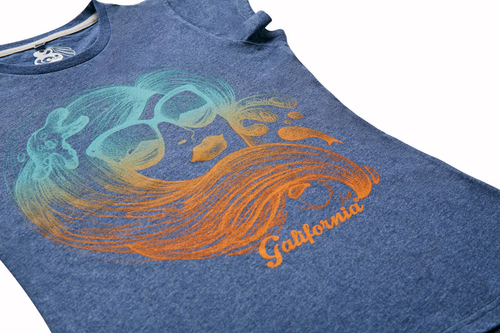 Camiseta galifornia girl gradient azul detail