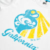 Camiseta blanca galifornia logo scratch detail