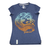 Camiseta galifornia girl gradient azul