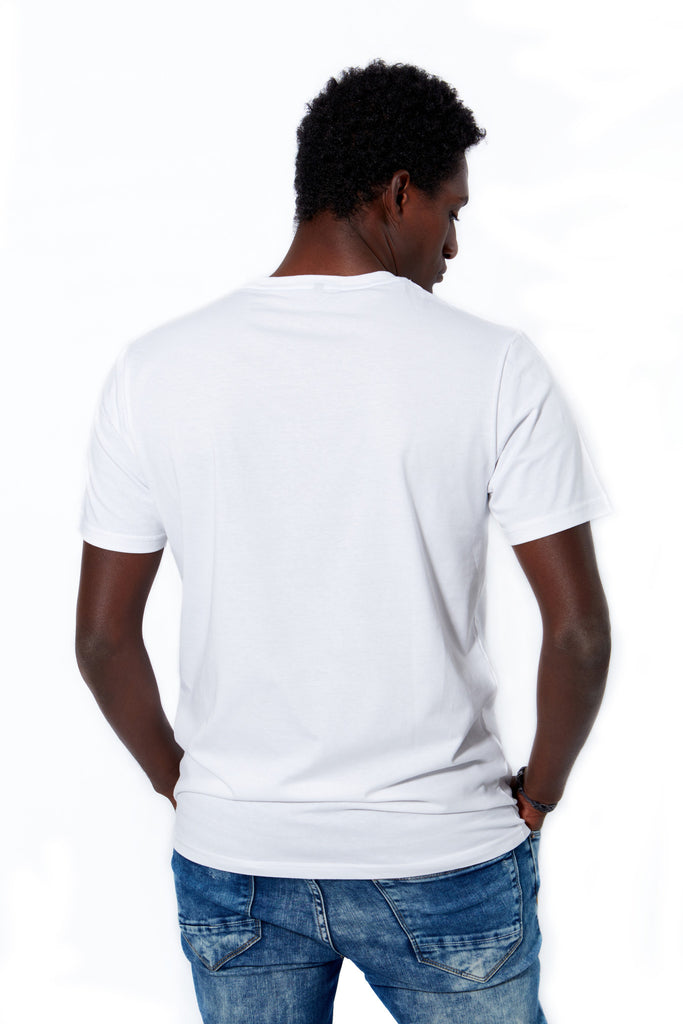Camiseta blanca galifornia logo scratch back