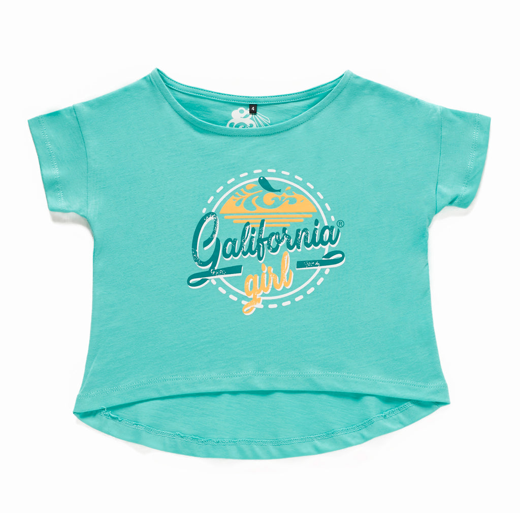Camiseta Vintage Girl Blue
