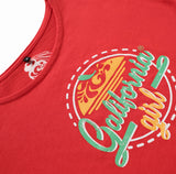 Camiseta Vintage Girl Red