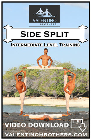 Side Split Intermediate Level Video mp4 - VALENTINO BROTHERS