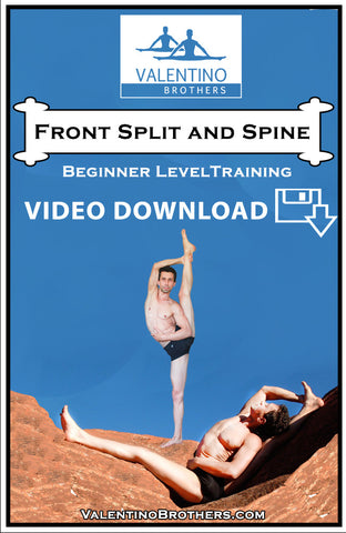 Front Split and Spine Beginner Level Video mp4 - VALENTINO BROTHERS