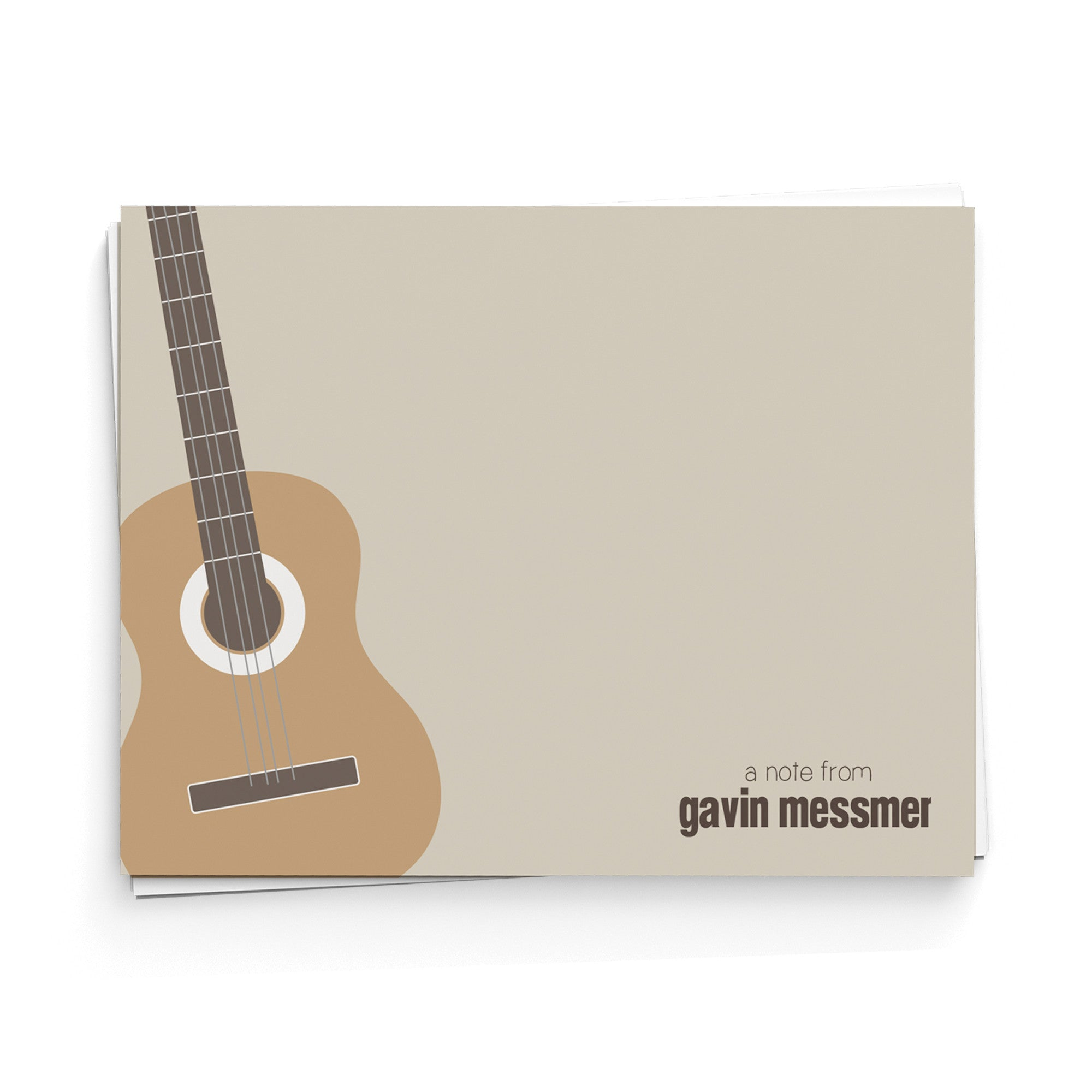 Acoustic Guitar Note Cards