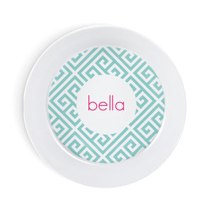 Pet Feeding - Aqua Key Personalized Bowl
