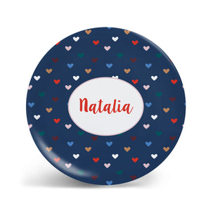 Autumn Hearts Plate