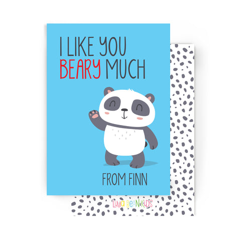 Like You Beary Much Valentine's Cards