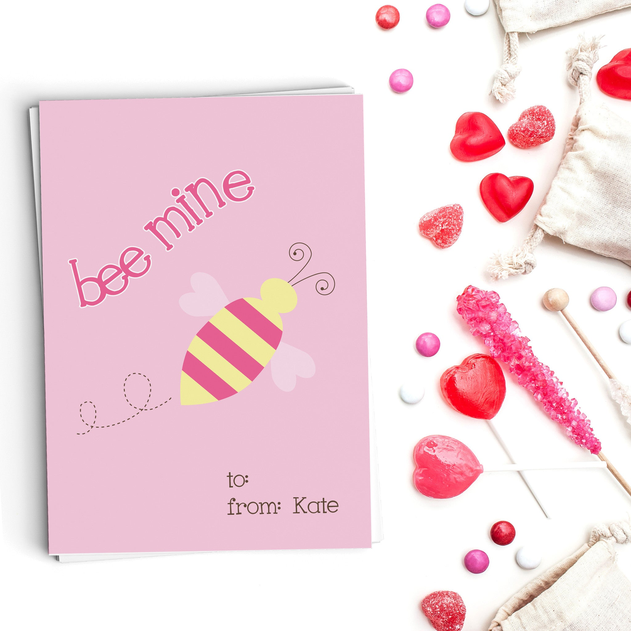 Bee Mine Valentine's Cards