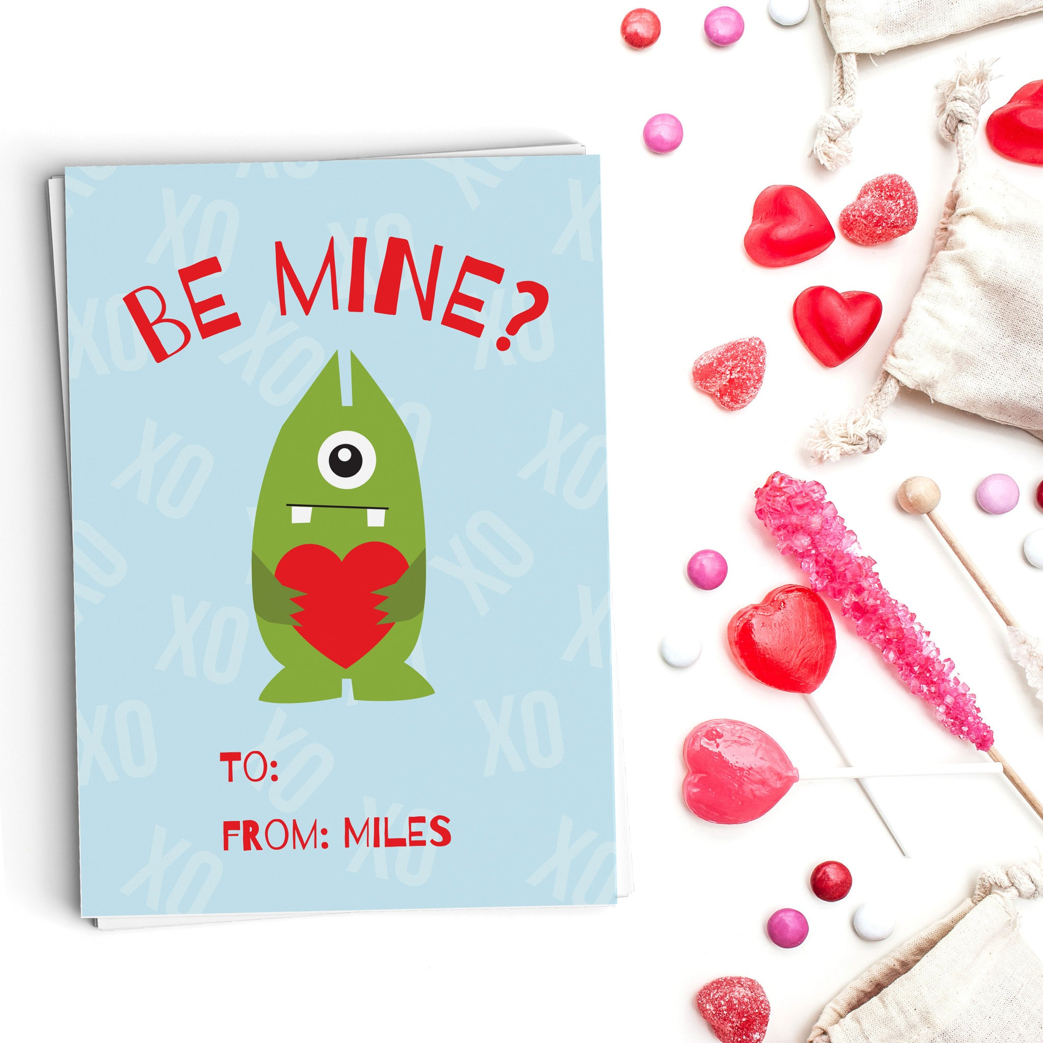 Be Mine Monster Valentine's Cards