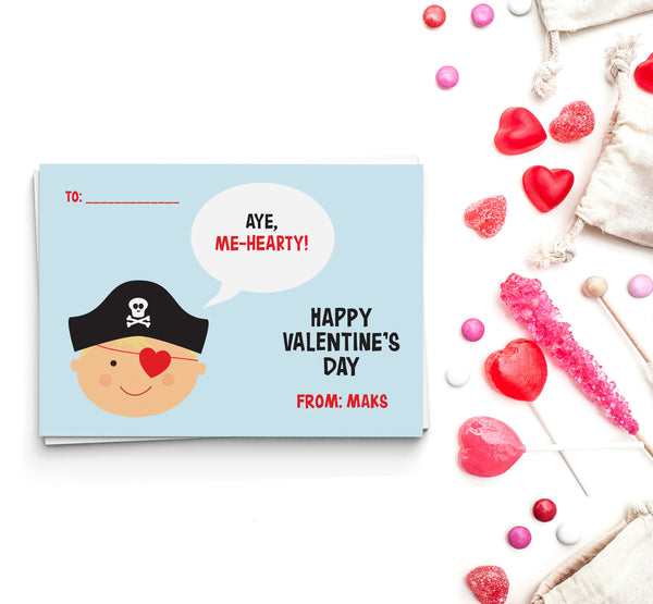 Aye, Me-Hearty Valentine's Cards