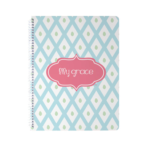 Blue Lattice Notebook