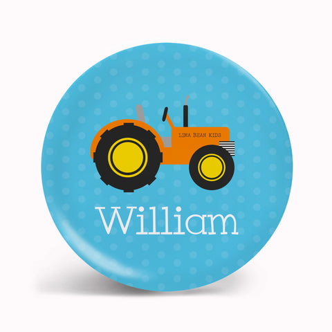 Blue Tractor Tableware