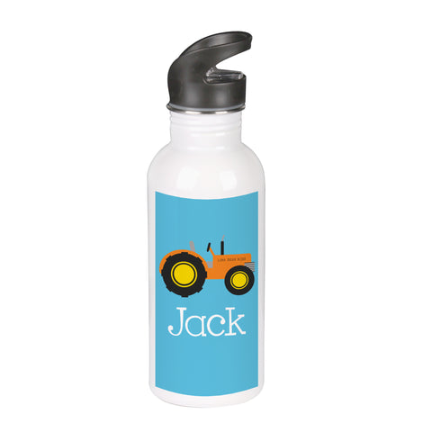 Blue Tractor Water Bottle