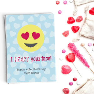 Heart Your Face! Emoji Valentine's Cards