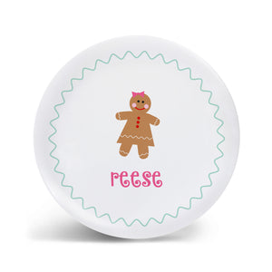 Gingerbread Girl Plate