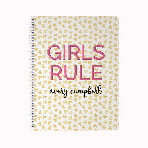 Girls Rule Notebook