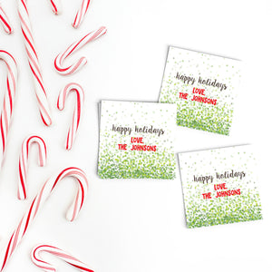 Green Confetti Gift Labels