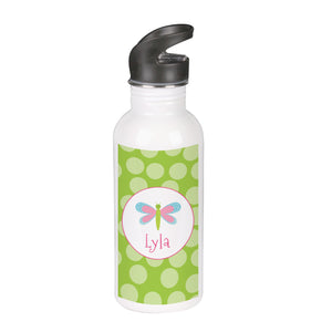 Green Butterfly Water Bottle