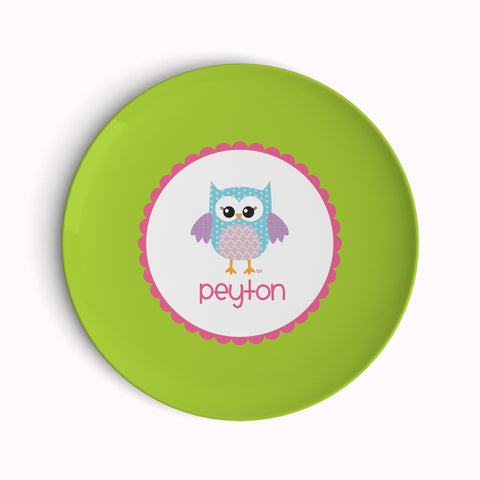 Green Owl Plate