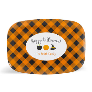 Halloween Plaid Platter