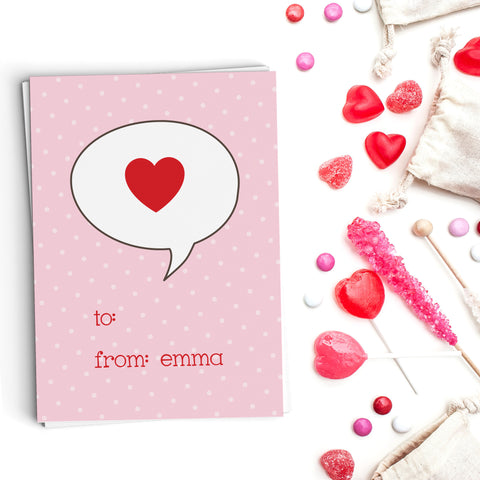 Bubble Heart Valentine's Cards