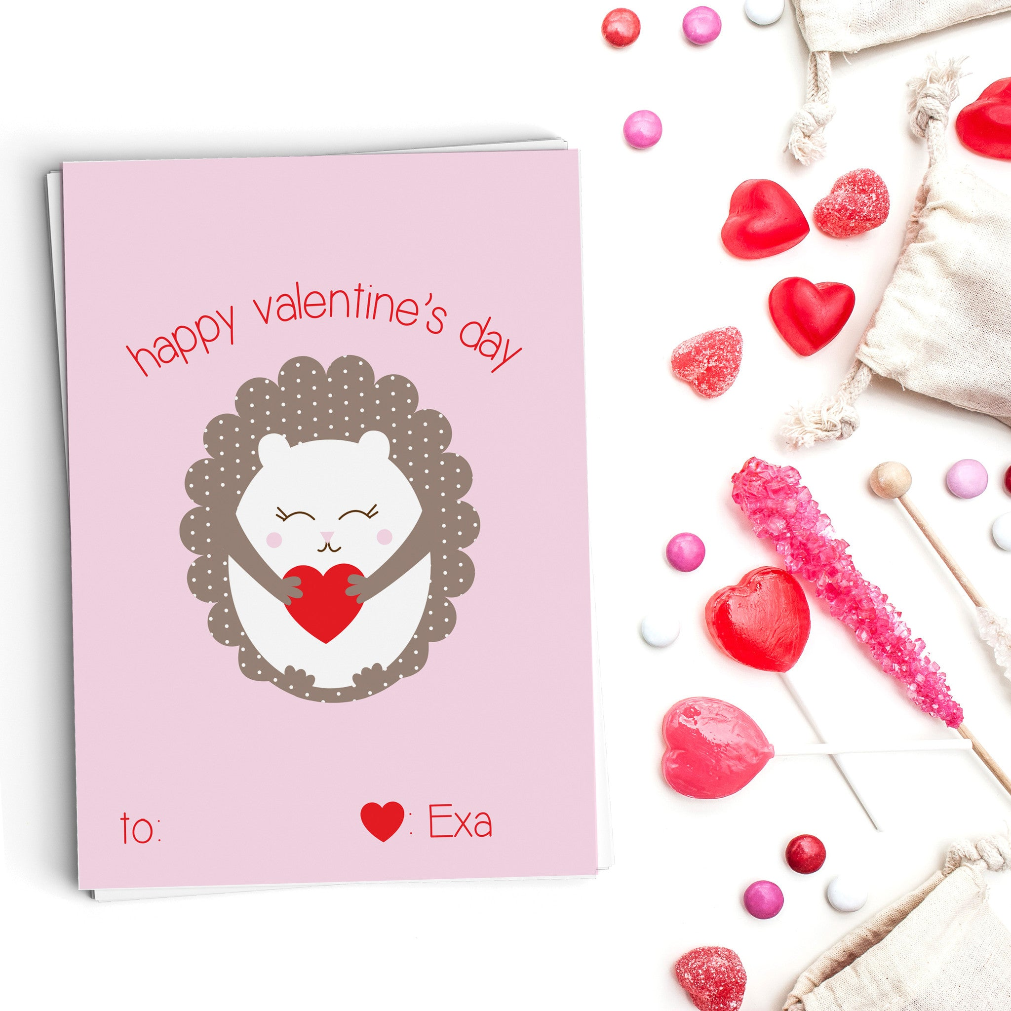 Hedgehog Love Valentine's Cards