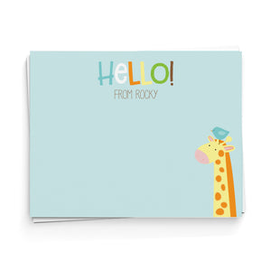 Hello! Giraffe Note Cards