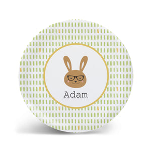 Hipster Bunny Plate