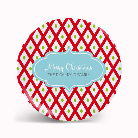 Holiday Lattice Plate