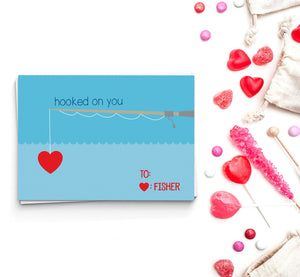 Hooked On You Valentine's Cards
