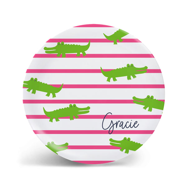 Lazy Gators Plate- 2 Styles!