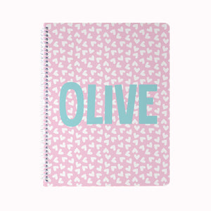 Mini Hearts Notebook