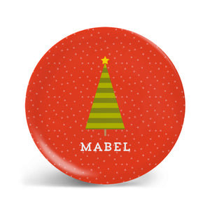 Mod Christmas Tree Personalized Plate