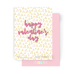Mod Triangles Tween Valentine's Cards