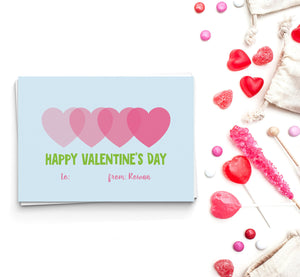 Ombre Hearts Valentine's Cards