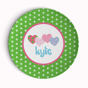 Overlapping Hearts Plate