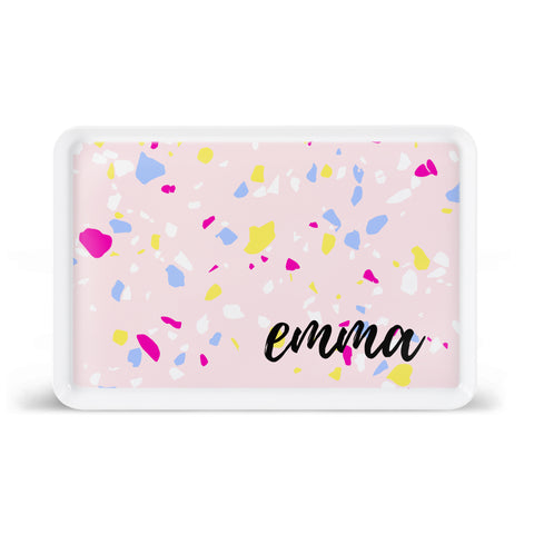 Paint Splatter - Pink Lunchroom Style Tray