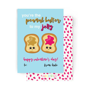 Peanut Butter & Jelly Valentine's Cards