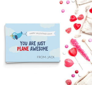 Plane Awesome Valentine's Cards