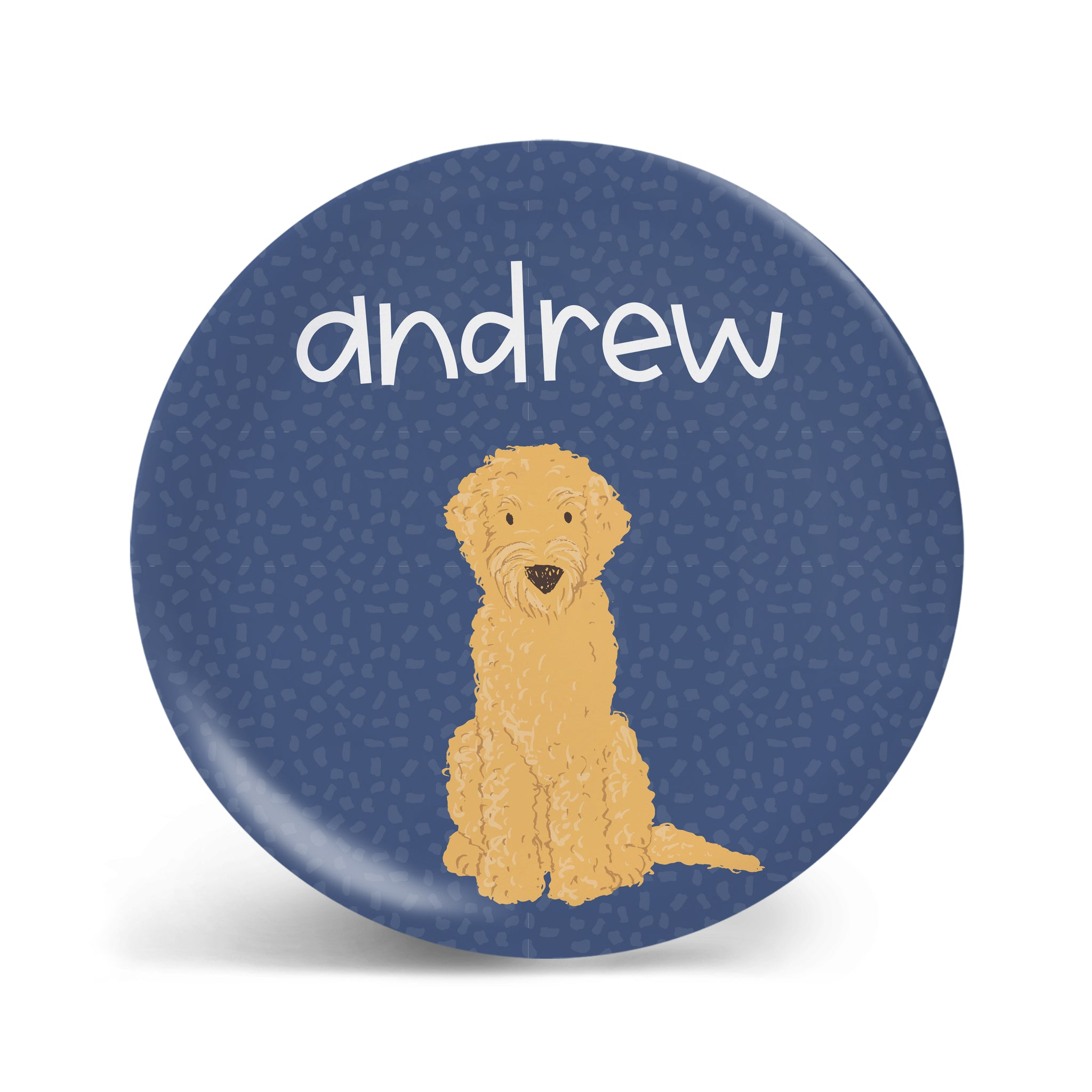 Pups Collection - Golden Doodle Plate