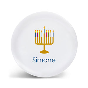 Rainbow Menorah Plate