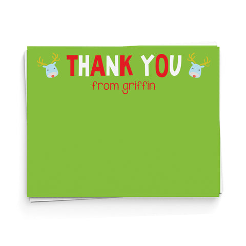 Rudolph Thank You Note Cards